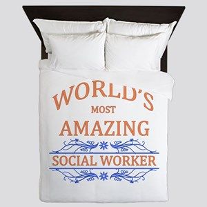 Social Worker Queen Duvet